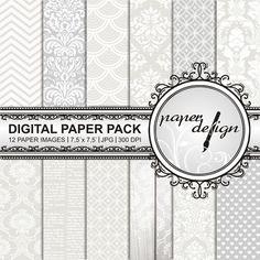wedding Digital Paper Pack Hochzeit Instant Download von Stilboxx