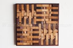 Wine Barrel Wall Art 4 Square Limited by winecountrycraftsman
