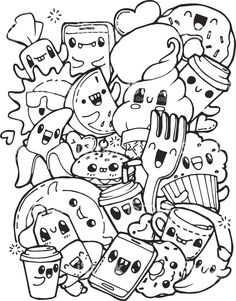 Awesome Kawaii Food Coloring Pages Luxury The Cartoon Sea Animals Are So Fun For Kids Shopkins