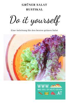 DIY Grüner Salat rustikal Rezept für grünen Salat rustikal zum Grillen #diy #grünersalat #salatrezept #speckwürfel Kraut, Cabbage, Vegetables, Food, Proper Tasty, Rustic, Food Portions, Cooking, Recipies