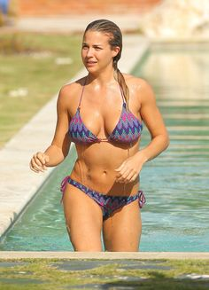 Gemma Atkinson at the bikini poolside candids, Dominican Republic (2013 November, 2013)