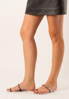 090e984c80 Giuseppe Zanotti - Embellished Toe Ring Flat Sandal Black Suede - Jildor  Shoes Toe Rings,