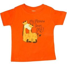 Inktastic My Memaw Loves Me! Baby T-Shirt Grandma Me Giraffe Gift Loved By Greatest Grandmas House Spoils Grandkids T-shirt Infant Tees Shower Clothing Apparel, Infant Boy's, Size: 12 Months, Orange