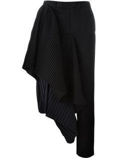 Facetasm asymmetric draped trousers