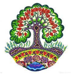Very nice pomegranate tree by Diane Cherr, sugarhillworks.com