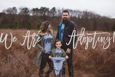 Adoption Announcement Photo