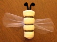 bumblebee washcloth - favor idea or for the wreath