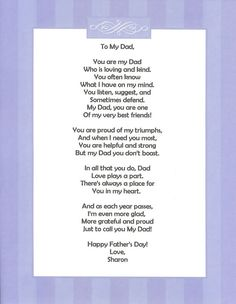 59 Ideas birthday quotes for dad from daughter poems mom Letter To Dad, Fathers Day Letters, Fathers Day Crafts, Dad Poems From Daughter, Daughter Quotes, Happy Birthday Dad From Daughter, Father Poems From Daughter, Brother Poems, Daddy Poems