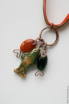 DIY Wire Fish Beads (Inspiration Only. No Pattern or Instructions.)
