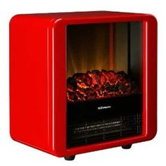 Dimplex MCF15R Freestanding Micro Electric Fire 1.5kw Red