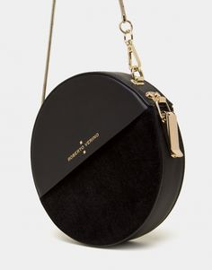 Black velvet and leather Cookie round bag fashion bags Luxury Bags, Luxury Handbags, Fashion Handbags, Fashion Bags, Black Handbags, Purses And Handbags, Leather Handbags, Cheap Handbags, Leather Totes