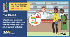 Today is Falls Prevention Awareness Day. Preventing falls is a team effort.Talk to your pharmacist about how your medications can affect your risk of falling. Get more tips on preventing falls at Primary Care Physician, Home Health Care, Social Media Images, Elderly Care, Injury Prevention, Physical Therapy, Public Health, Teamwork, A Team