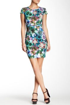 Floral Pleated Waist Dress by Amelia on @HauteLook