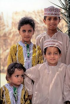 Omani Children in National Dress