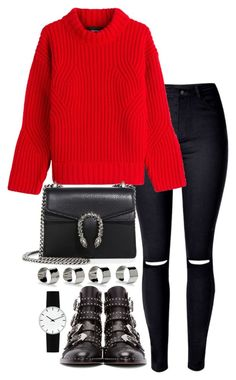 """""""Untitled #3163"""" by theeuropeancloset ❤ liked on Polyvore featuring Dsquared2, Givenchy, Gucci, Maison Margiela and Rosendahl"""