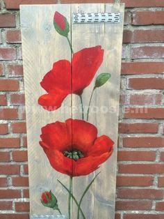 Billedresultat for pallet art flowers Arte Pallet, Wood Pallet Art, Pallet Painting, Painting On Wood, Painting Flowers, Wood Pallets, Art On Wood, Diy Wood, Pallet Benches