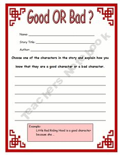 Worksheets Good Character Worksheets wanted a good character worksheet traits pinterest or bad and personal connections worksheets