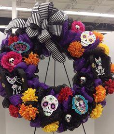 Dia De Los Muertos Wreath by Randi Sheldon at Michaels 1600