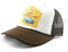 7979039e Camp Crystal lake hat trucker hat mesh hat new Friday the 13th movie hat  brown #