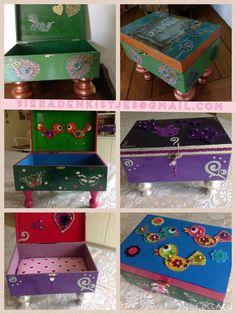 Schattige kistjes voor het opbergen van kostbaarheden Unieke exemplaren Bestellen via de mail
