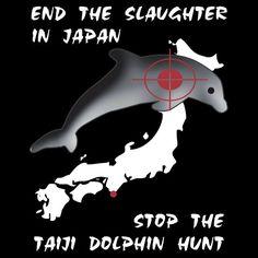 Protest the Taiji Dolphin Hunt. T-shirt by Samuel Sheats on Redbubble. #activism #taiji #dolphin