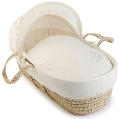 Clair de Lune Starburst Palm Moses Basket (Cream)