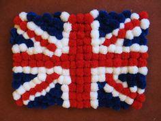 My union flag pom pom rug