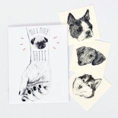 idée cadeau noël tatouage chien