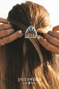 Pura Vida Bracelets, Shark Week, Beauty Hacks, Beauty Ideas, Beauty Tips, Hair Goals, Hair And Nails, Hair Clips, Piercings