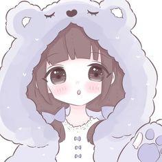 Cartoon Girl Images, Cute Cartoon Girl, Cartoon Girl Drawing, Anime Girl Drawings, Anime Girl Cute, Kawaii Anime Girl, Cute Anime Chibi, Cute Anime Pics, Cute Anime Couples