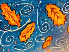 Autumn Leaf Compositions 4th grade art idea lesson