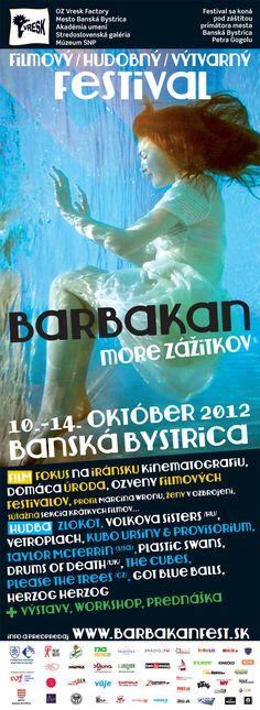 BARBAKAN festival 2012 Banská Bystrica Posters, Postres, Banners, Billboard, Poster