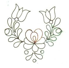 Chain Stitch Embroidery, Bead Embroidery Patterns, Hand Embroidery Designs, Ribbon Embroidery, Beading Patterns, Flower Patterns, Flower Designs, Embroidery Stitches, Mexican Embroidery