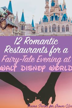 12 Romantic Restaurants for Date Night at Disney WorldYou might be surprised to learn Disney World has been knighted Most Romantic Destination by many sources. There's fireworks, fine-dining, and exciting roller coasters where you can clutch eac Walt Disney World, Disney World Restaurants, Disney Resorts, Disney World Honeymoon, Disney World Wedding, Disney World Theme Parks, Disney Vacations, Disney Trips, Disney Travel