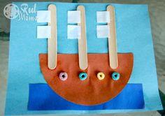 Columbus Day craft activity: Make a triple sail boat