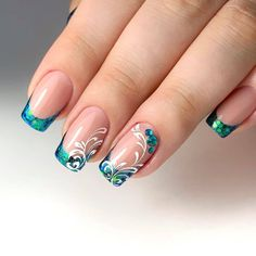 Manicure Nail Designs, Nail Tip Designs, Fall Nail Art Designs, Nail Polish Designs, Beautiful Nail Designs, Beautiful Nail Art, Nail Manicure, Manicures, Manicure Ideas