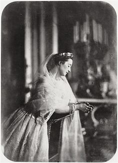 1856 The relative that I was named after, Empress Eugénie praying by Gustave Le Gray