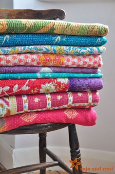 kantha quilts - Google Search