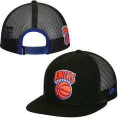 size 40 f3bed 45d5b New York Knicks New Era Primary Trucker Original Fit 9FIFTY Adjustable Hat  - Black