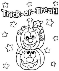 pumpkins coloring pagethis is a good site for cute free pages trick or treat - Pumpkin Coloring Sheets Printable
