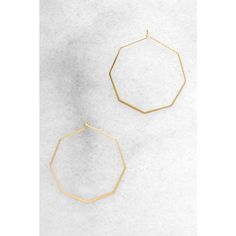 South Moon Under Geometric Hoop In ($24) ❤ liked on Polyvore featuring jewelry, earrings, gold, geometric jewelry, south moon under, hoop earrings, loop earrings and south moon under jewelry
