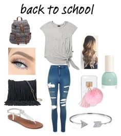 """Back To School"" by imabelieber428 ❤ liked on Polyvore featuring Terez, Topshop, Apt. 9, SONOMA Goods for Life, Bling Jewelry, Ashlyn'd and Aéropostale"