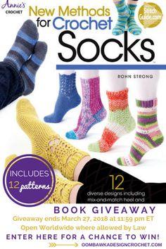 Let's Learn Some New Methods for Crochet Socks! https://oombawkadesigncrochet.com/2018/03/lets-learn-some-new-methods-for-crochet-socks.html