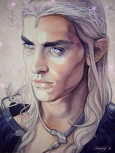 King Oropher by kimberly80 - King Oropher was the grandfather of King Thranduil.  He died during the battle of the Last Alliance, leaving his adolescent son to command the army and rule the Elves of Greenwood the Great (Mirkwood.)  This is a large part of why Thranduil is so grim and guarded.