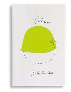 """Design by Peter Mendelsund and Oliver Munday. """"Into the War"""" by Italo Calvino - Mariner Books Best Book Covers, Beautiful Book Covers, Magazin Design, Buch Design, Cool Books, Book Jacket, Poetry Books, Book Cover Design, Haruki Murakami"""