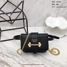 replica Prada cahier belt bag 1BL004 Black