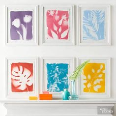 Make gallery-worthy graphic botanical prints with faux greenery and spray paint for a standout display.
