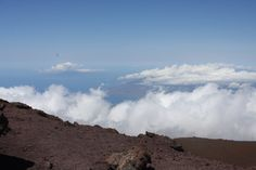 Haleakalā National Park Mountain    Above the clouds looking down from the top to the southern part of Maui.    http://www.nps.gov/hale/index.htm