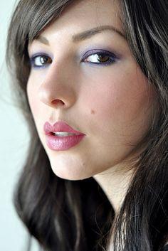 Purple eyeshadow - love her blog, lots of great ideas!