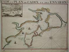 Mapa de la Bahía de Cádiz del siglo XVIII